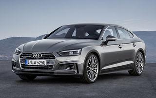 Noile generaţii Audi A5 şi S5 Sportback: coupe-urile cu 5 uşi se inspiră de la A5 şi S5 şi au interioare spaţioase cu Virtual Cockpit