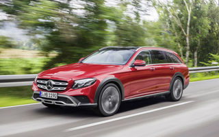 Aventuri pe meleaguri străine: Mercedes Clasa E All-Terrain atacă zona ocupată de Audi A6 Allroad și Volvo V90 Cross Country