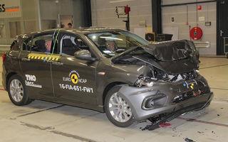 Fiat Tipo dezamăgeşte la EuroNCAP: 3 stele în varianta standard a testului. Sistemul de frânare automată nu funcţionează în oraş