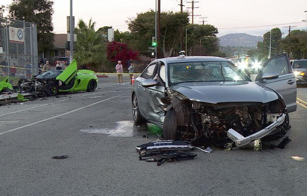 Daună de peste 200.000 de euro: un McLaren 650S Spider, transformat în morman de fiare după un accident în SUA (VIDEO) - Poza 2