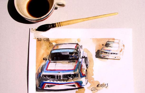 Istoria BMW în sporturile cu motor, recreată prin picturi cu cafea în direct în Bucureşti în perioada 7 noiembrie - 7 decembrie - Poza 1