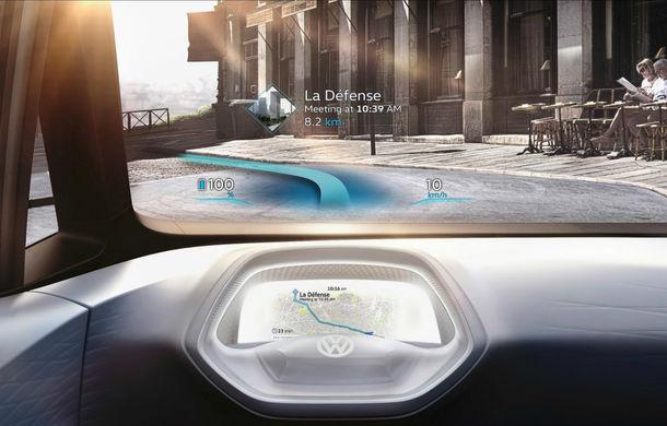 Revoluţie în navigaţie: Volkswagen ID va avea un head-up display care va proiecta pictograme la 15 metri în faţa şoferului - Poza 1