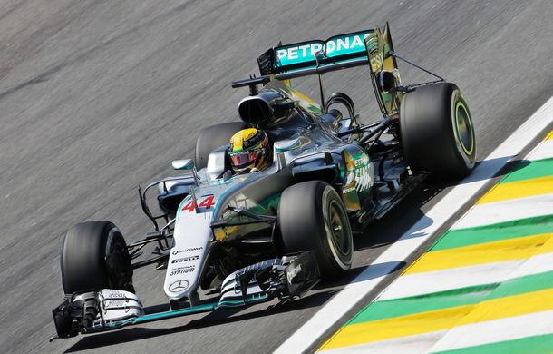 Hamilton, pole position în fața lui Rosberg la Interlagos. Raikkonen va pleca de pe locul 3 - Poza 1