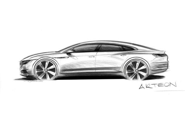 Iese Passat CC, intră Arteon: Volkswagen Arteon este numele noului coupe cu patru uși din gama mărcii germane - Poza 1