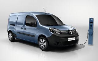 Pe urmele lui Zoe: utilitara Renault Kangoo ZE va avea din 2017 autonomie de 270 kilometri, cu 50% mai mare