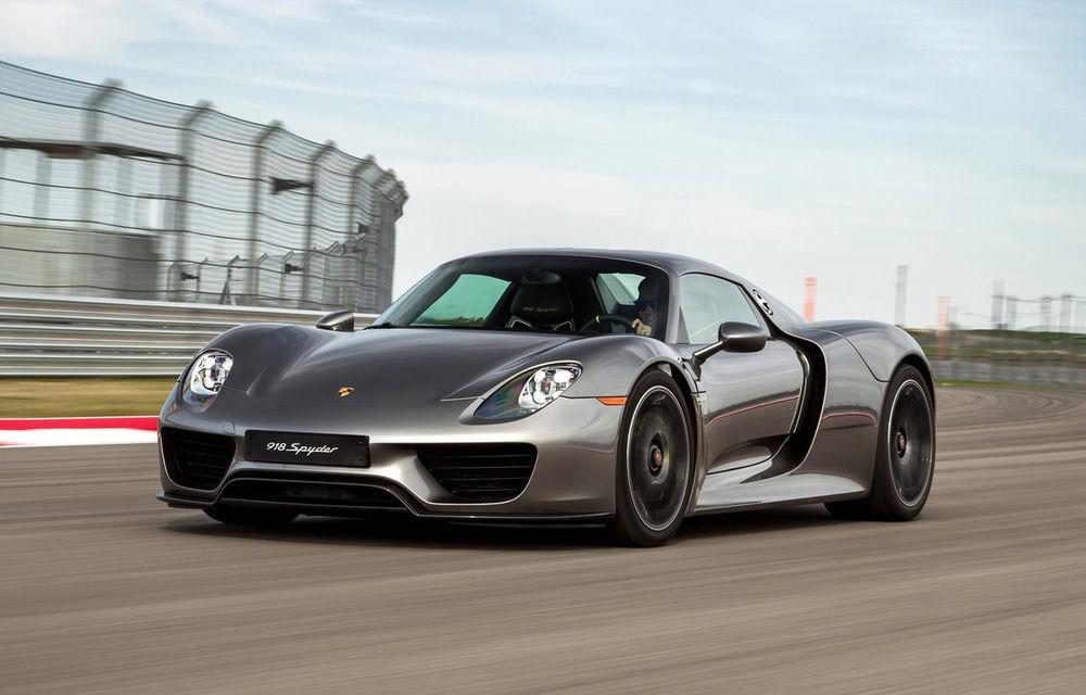Recall de colecție: 306 exemplare Porsche 918 Spyder vândute în SUA, chemate în service pentru o problemă de suspensie - Poza 1