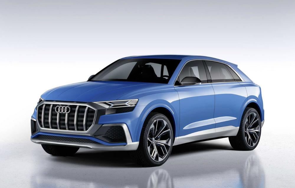 Audi Q8 Concept pornește pe urmele lui Range Rover și Mercedes GLS: imagini și detalii oficiale cu SUV-ul german - Poza 1
