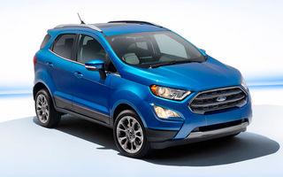Ford îşi pune toate speranţele în Ecosport, modelul care va fi produs la Craiova, pentru a creşte vânzările de SUV-uri mici în Europa