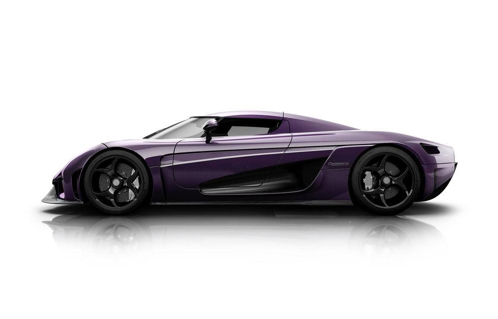 Prince și melodia Purple Rain, singurele motive pentru care Koenigsegg ar vopsi un Regera în culoarea mov - Poza 3