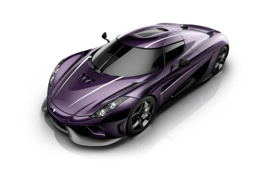 Prince și melodia Purple Rain, singurele motive pentru care Koenigsegg ar vopsi un Regera în culoarea mov - Poza 1