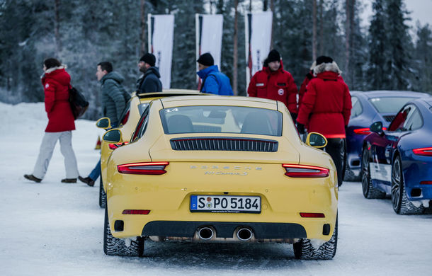 Valentine's Day în variantă masculină: drifturi pe gheață cu cele mai puternice modele Porsche - Poza 15
