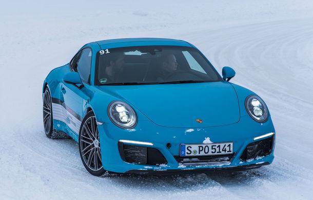 Valentine's Day în variantă masculină: drifturi pe gheață cu cele mai puternice modele Porsche - Poza 52