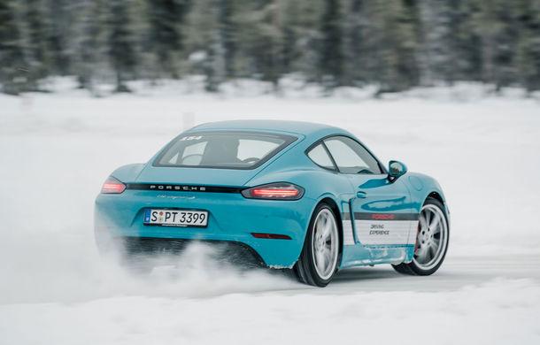 Valentine's Day în variantă masculină: drifturi pe gheață cu cele mai puternice modele Porsche - Poza 33