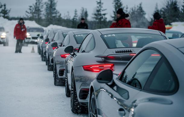 Valentine's Day în variantă masculină: drifturi pe gheață cu cele mai puternice modele Porsche - Poza 16