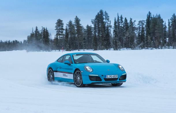 Valentine's Day în variantă masculină: drifturi pe gheață cu cele mai puternice modele Porsche - Poza 48