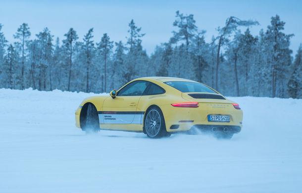 Valentine's Day în variantă masculină: drifturi pe gheață cu cele mai puternice modele Porsche - Poza 44