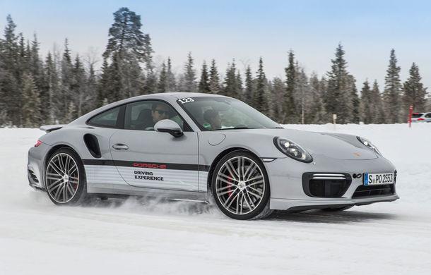 Valentine's Day în variantă masculină: drifturi pe gheață cu cele mai puternice modele Porsche - Poza 82