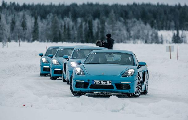 Valentine's Day în variantă masculină: drifturi pe gheață cu cele mai puternice modele Porsche - Poza 23
