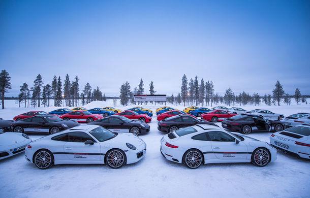 Valentine's Day în variantă masculină: drifturi pe gheață cu cele mai puternice modele Porsche - Poza 50