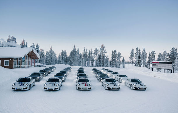 Valentine's Day în variantă masculină: drifturi pe gheață cu cele mai puternice modele Porsche - Poza 6