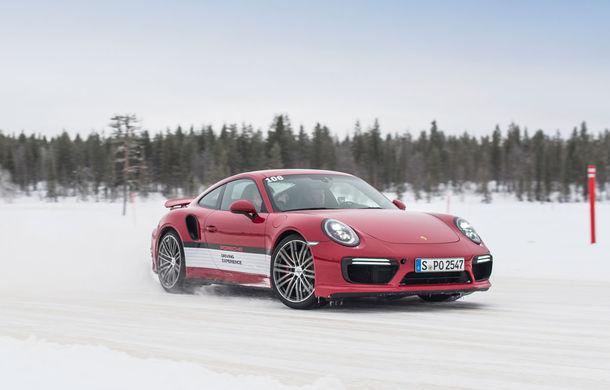 Valentine's Day în variantă masculină: drifturi pe gheață cu cele mai puternice modele Porsche - Poza 79