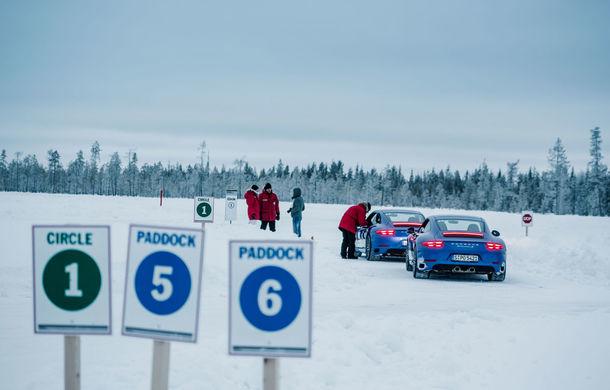 Valentine's Day în variantă masculină: drifturi pe gheață cu cele mai puternice modele Porsche - Poza 14