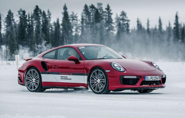 Valentine's Day în variantă masculină: drifturi pe gheață cu cele mai puternice modele Porsche - Poza 26