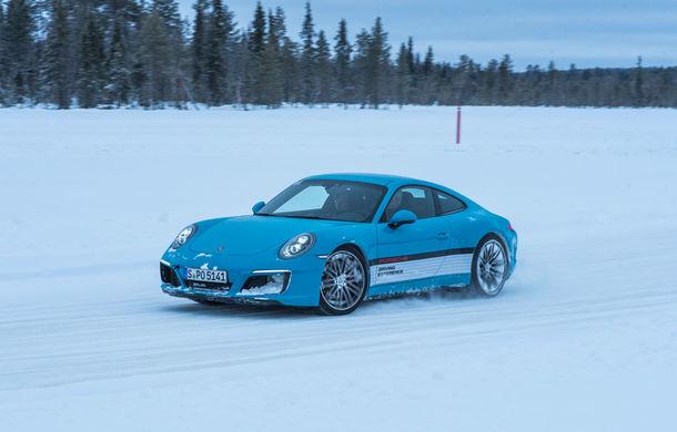 Valentine's Day în variantă masculină: drifturi pe gheață cu cele mai puternice modele Porsche - Poza 63