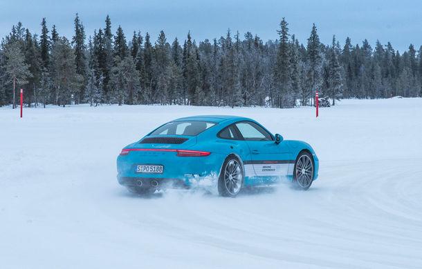 Valentine's Day în variantă masculină: drifturi pe gheață cu cele mai puternice modele Porsche - Poza 47