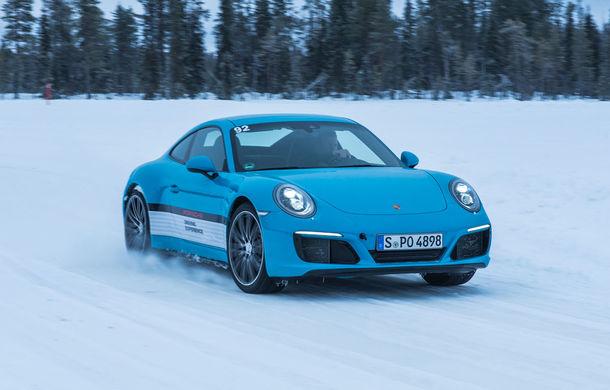 Valentine's Day în variantă masculină: drifturi pe gheață cu cele mai puternice modele Porsche - Poza 68