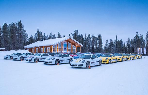 Valentine's Day în variantă masculină: drifturi pe gheață cu cele mai puternice modele Porsche - Poza 51