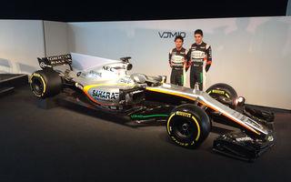 O nouă lansare: Force India prezintă noul monopost pentru sezonul 2017