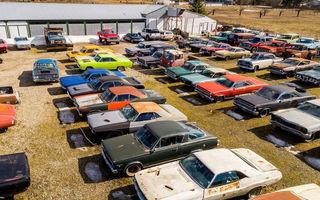 Ofertă de nerefuzat: un canadian vinde terenurile sale la pachet cu o colecție de 340 de mașini clasice