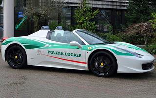 Poliția italiană își mai trece în cont un supercar: un Ferrari 458 Italia Spider, confiscat de la o grupare mafiotă