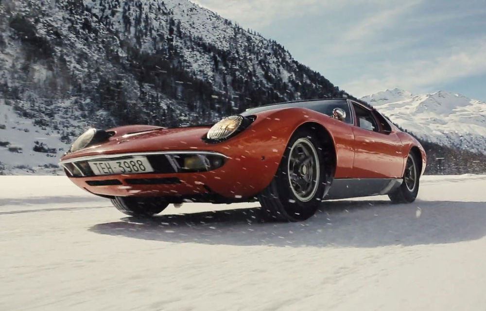 Bătrânul Lamborghini Miura încă mai poate: drifturi pe un drum acoperit de zăpadă (VIDEO) - Poza 1