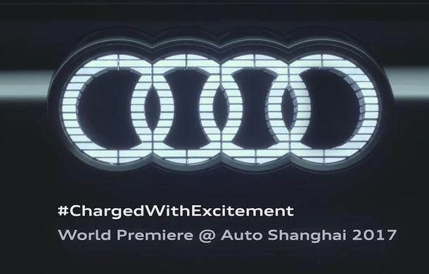 Audi pregătește un nou concept e-tron: va avea logo-ul iluminat cu LED-uri și blocuri optice alungite (VIDEO) - Poza 1