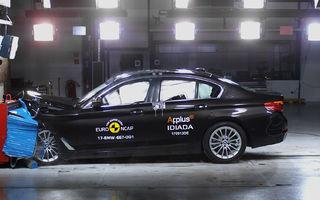 Noua generație BMW Seria 5 își respectă blazonul: 5 stele în testele de siguranță EuroNCAP