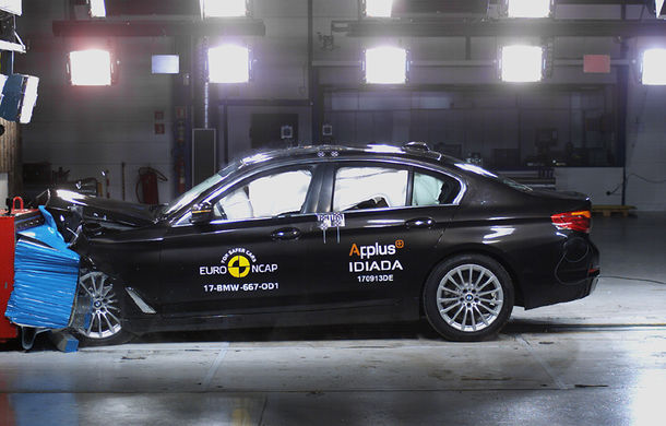 Noua generație BMW Seria 5 își respectă blazonul: 5 stele în testele de siguranță EuroNCAP - Poza 1