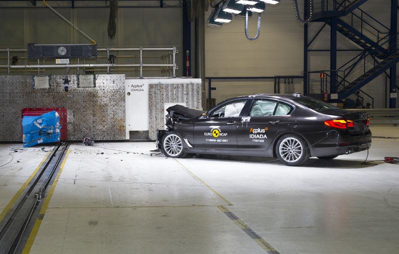 Noua generație BMW Seria 5 își respectă blazonul: 5 stele în testele de siguranță EuroNCAP - Poza 4