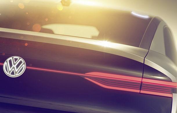 Primul teaser cu noul SUV coupe din gama Volkswagen ID: conceptul va fi electric și autonom - Poza 1