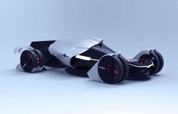 Tesla T1: conceptul inedit pentru Cursa de 24 de ore de la Le Mans are 1.340 de cai putere și atinge peste 400 km/h - Poza 1