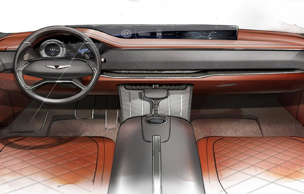 Hyundai și brandul său premium Genesis cochetează cu ideea unui SUV premium: GV80 Concept ar putea rivaliza cu BMW X5 - Poza 13