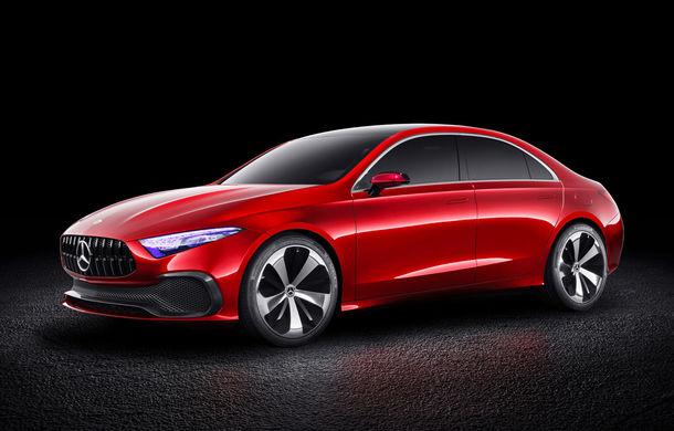 Mercedes Concept A Sedan: După CLA, Mercedes anunță încă un sedan compact cu alură de coupe - Poza 5