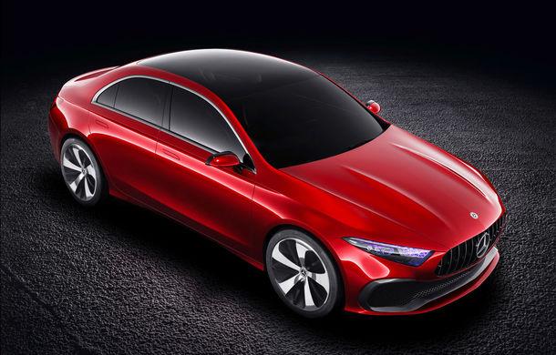 Mercedes Concept A Sedan: După CLA, Mercedes anunță încă un sedan compact cu alură de coupe - Poza 7
