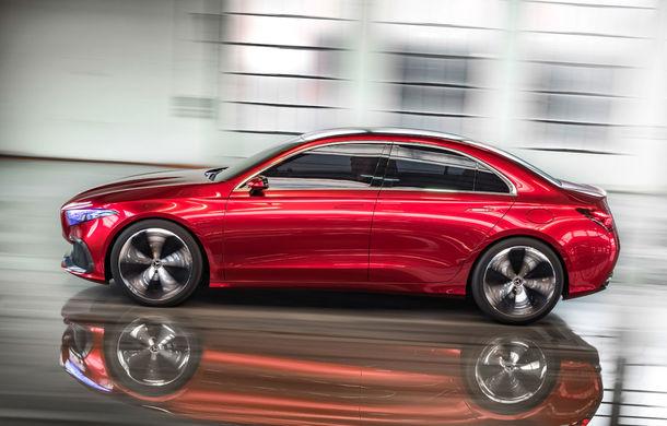 Mercedes Concept A Sedan: După CLA, Mercedes anunță încă un sedan compact cu alură de coupe - Poza 3