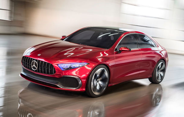 Mercedes Concept A Sedan: După CLA, Mercedes anunță încă un sedan compact cu alură de coupe - Poza 1