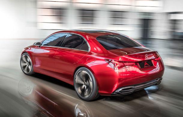 Mercedes Concept A Sedan: După CLA, Mercedes anunță încă un sedan compact cu alură de coupe - Poza 4