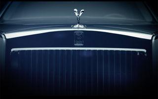 Noua generație Rolls-Royce Phantom debutează pe 27 iulie: primele imagini teaser
