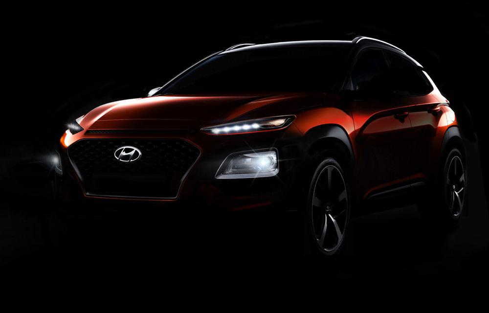 Hyundai continuă campania de teasing pentru Kona: două fotografii noi cu viitorul SUV - Poza 1