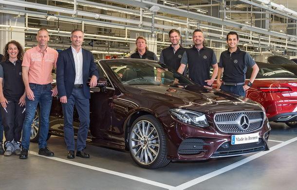 La timp pentru vară: noul Mercedes Clasa E Cabrio a intrat în producție - Poza 3